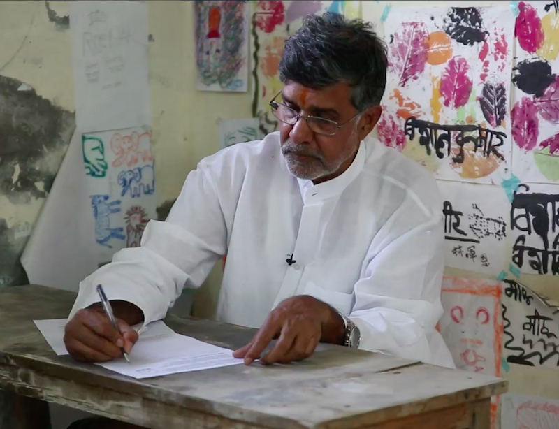 Kailash Satyarthi signs #UpForSchool Petition