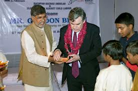 Kailash Satyarthi with Gordon Brown