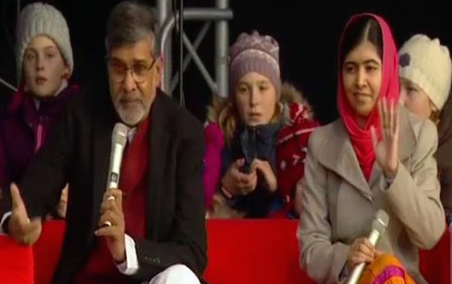 Kailash Satyarthi and Malala Yousafzai at Nobel Peace Party