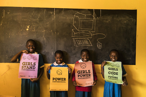 Kenyan girls at Theirworld Code Club in Kibera picture by Theirworld/Adriane Ohanesian 1