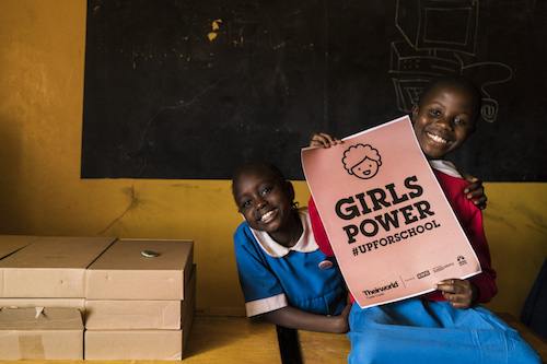 Kenyan girls at Theirworld Code Club in Kibera picture by Theirworld/Adriane Ohanesian