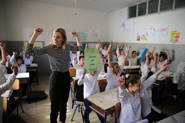 Laura at El Shayah mixed Public School in Beirut