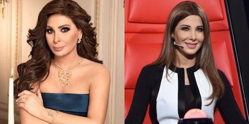 Lebanese singers Elissa and Nancy Ajram