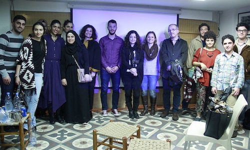 Capturing the Moment film competition in Lebanon - entrants and judges at special event in Beirut