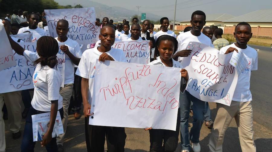 Malala Day event in Burundi