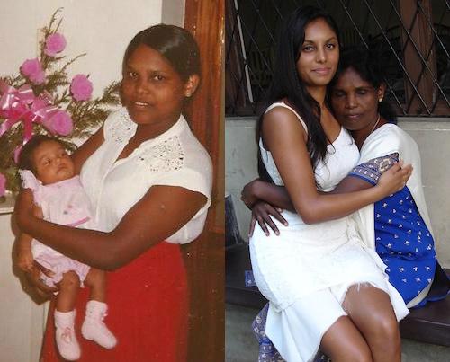 Melissa Day and her Sri Lankan mother Vijayalakshmi Kandasamy