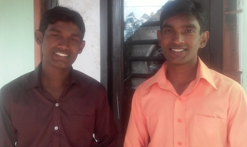 Melissa Day's brother Ashok and Arun