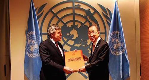 #UpForSchool petition Petition with Gordon Brown and Ban Ki-moon