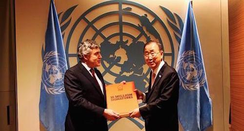 #UpForSchool petition Petition with Gordon Brown and Ban Ki-moon
