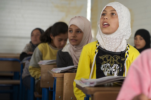 Syrian children at UNICEF-supported school in Jordan picture UNICEF/Noorani