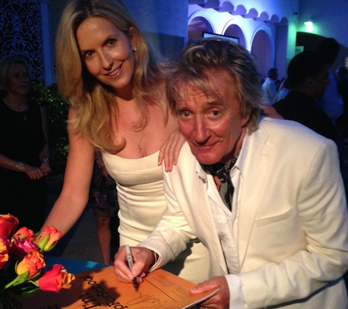 Rod Stewart and Penny Lancaster sign #UpForSchool at Theirworld:Astley Clarke event