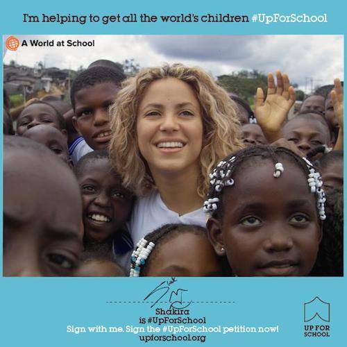 Shakira is #UpForSchool