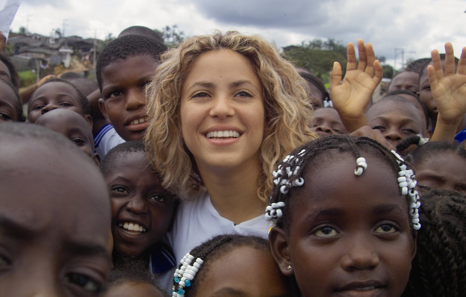 Shakira is a Goodwill Ambassador for UNICEF