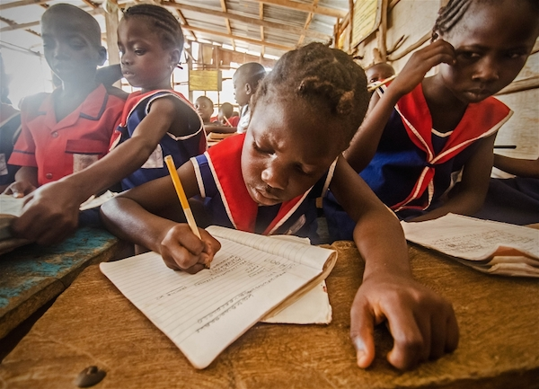Classroom at freeBorbor Pain Charity School of Hope in Adonkia, Sierra Leone