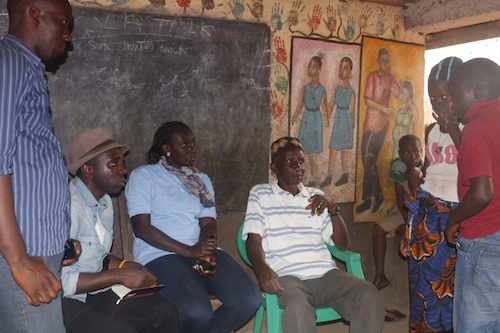 Sierra Leone community chief talks about ebola orphans