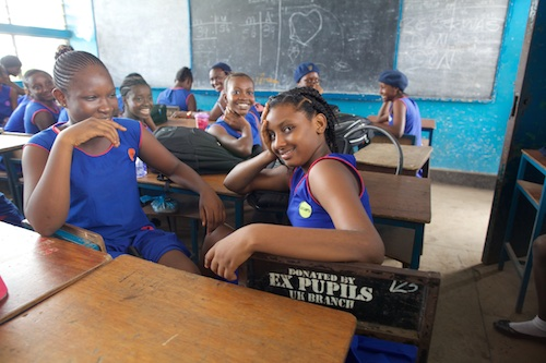 Sierra Leone girls at St Joseph's Secondary in Freetown picture UNICEF