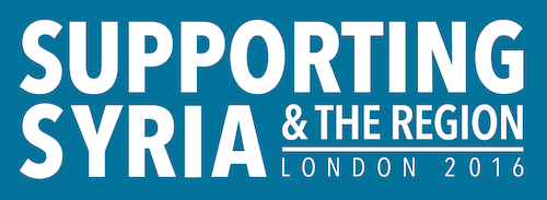 Supporting Syria conference logo