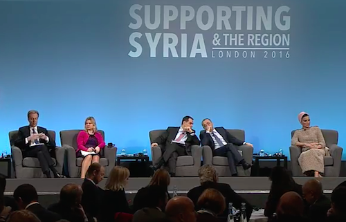 Syria conference top table