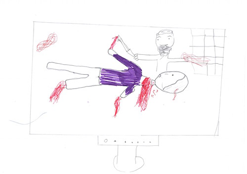 Syrian children's drawings from aid agency CAFOD
