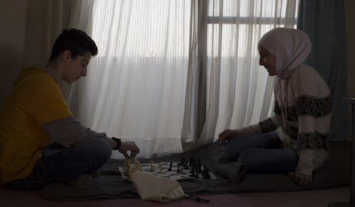 Syria's Got Talent chess players Abdulsalmouh Ahmad Hourieh and Lana Ahmad Hourieh picture by Tabitha Ross