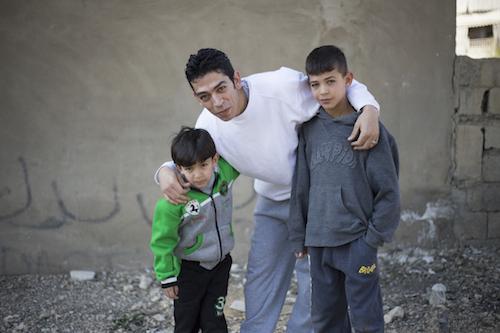 Syrias Young talent Haytham Khaled Mash-Hadan and Jawad Khaled Mash-Hadan with dad Khaled