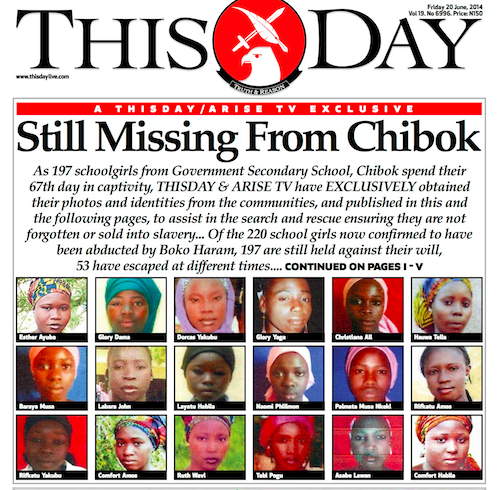 ThisDay missing Chibok girls photos