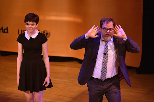 Town Hall hosts Lulu Cerone and Rainn Wilson picture by Getty Images for #UpForSchool