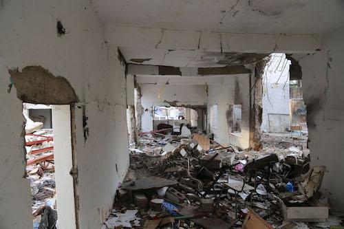 Arwa School in Taiz city. Yemen, badly damaged Picture: UNICEF/Ahmed Basha