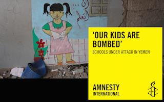 Yemen school bombings report by Amnesty International