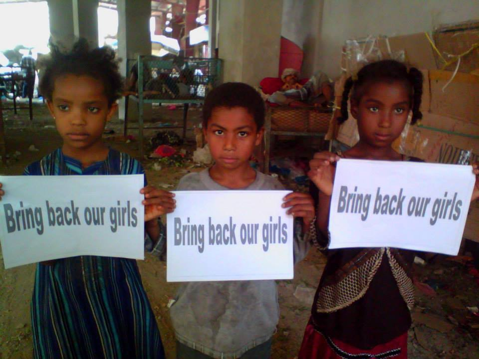 Students in Yemen show their support for Bring Back our Girls on Day of the African Child
