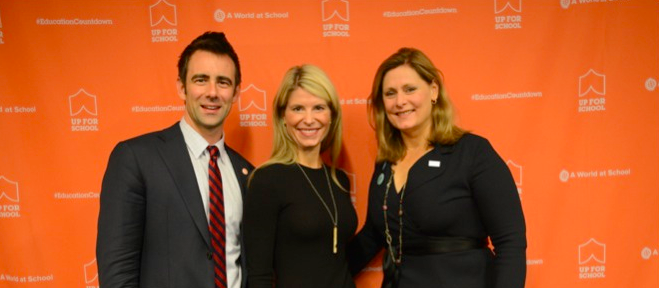 Global Business Coalition for Education executive breakfast Sarah Brown Shannon Schuyler