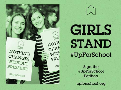 Girls Stand #UpForSchool