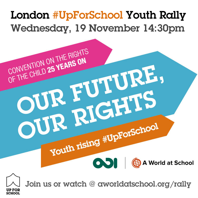 #UpForSchool youth rally London
