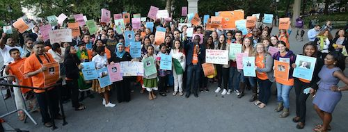 #UpForSchool youth rally in New York