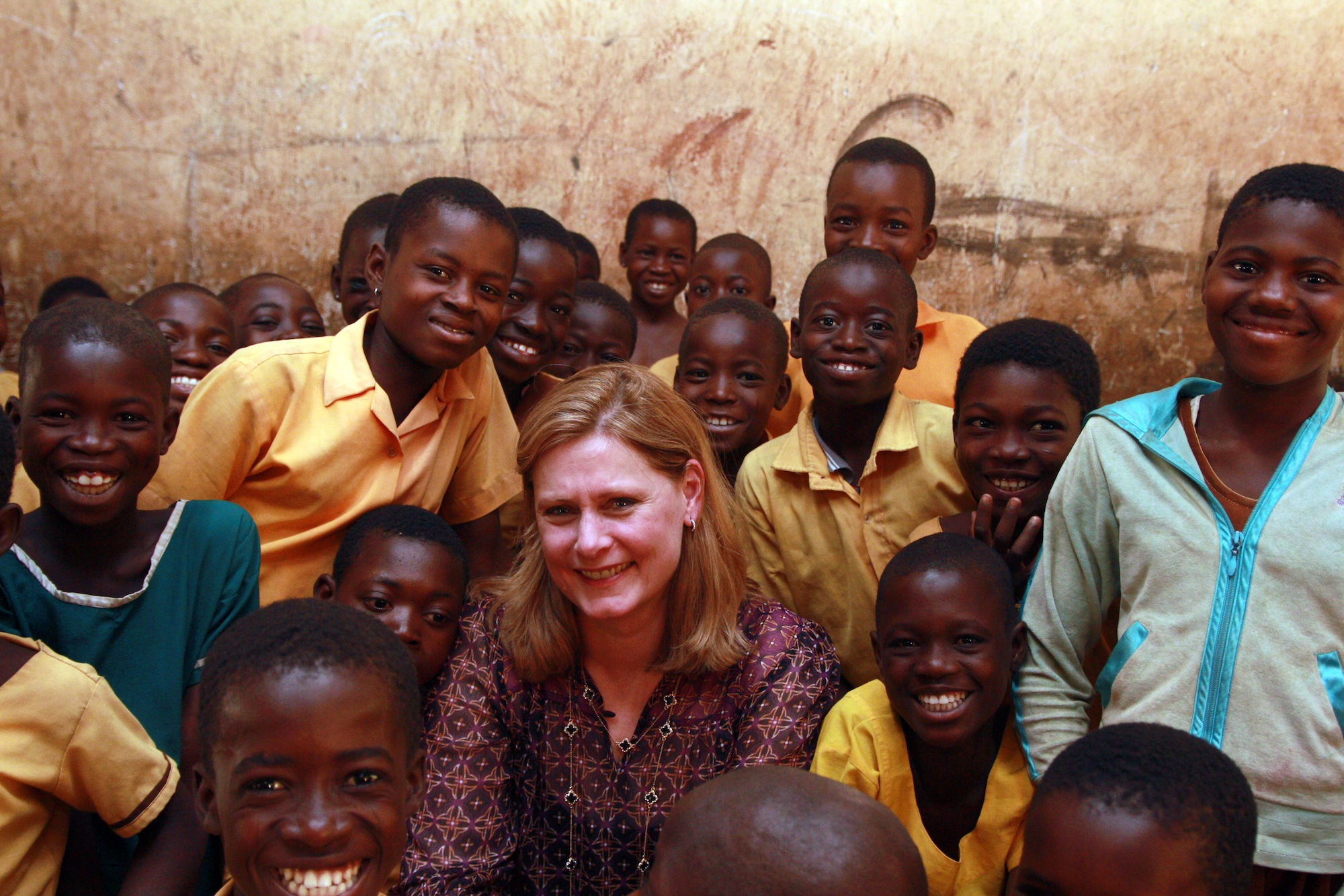 Sarah Brown sees how Sport Relief money is helping girls in Ghana