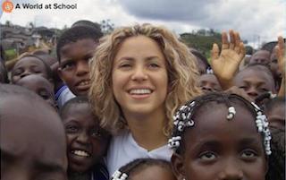 Shakira mobilises her fans on social media to sign #UpForSchool