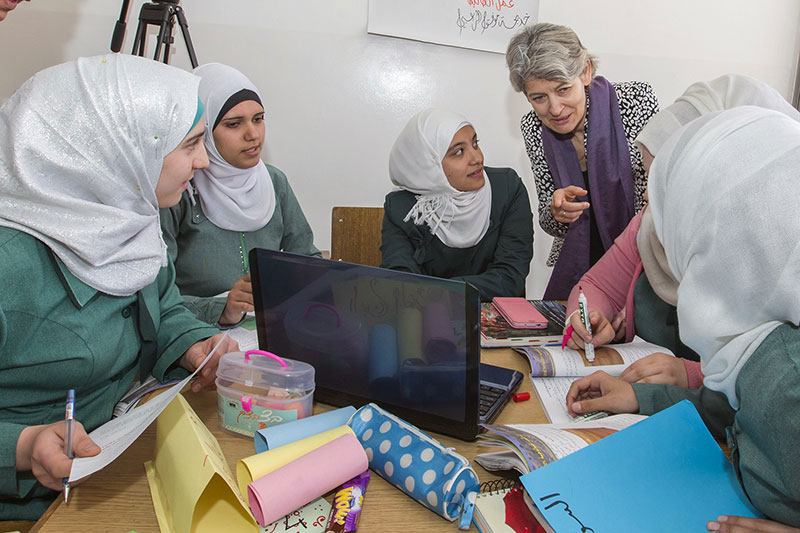 Syrian refugee girls will not 'be left behind' pledges UNESCO chief