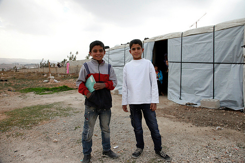 Refugee children just want to go to school says BBC's man in Lebanon