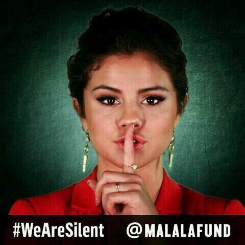 Malala's day of silence for girls' rights is backed by celebrities